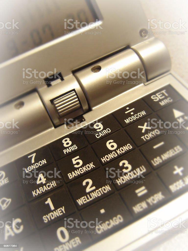 International Calculator stock photo