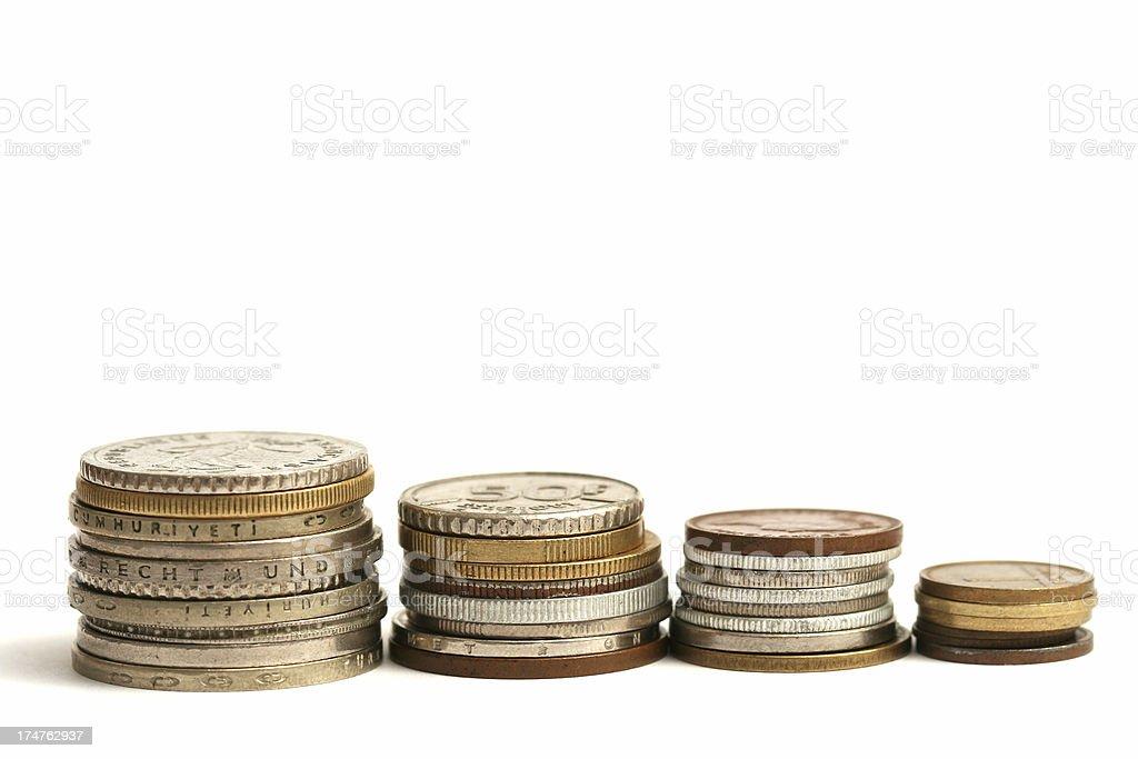 International coins #3 royalty-free stock photo
