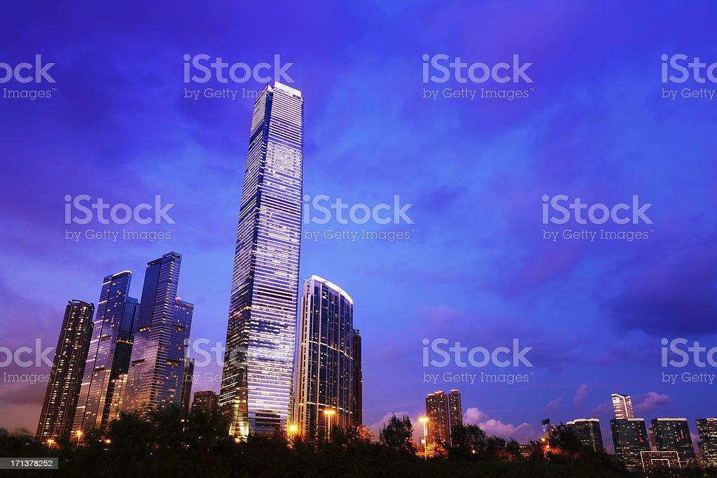 International Commerce Centre Hong Kong royalty-free stock photo