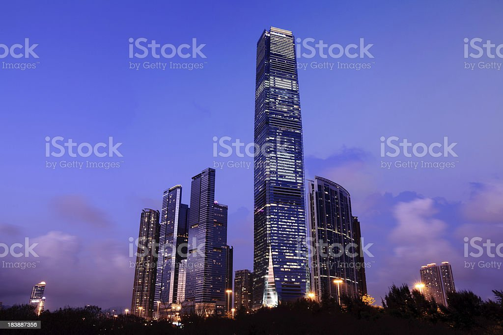 International Commerce Centre Hong Kong royalty-free stock photo