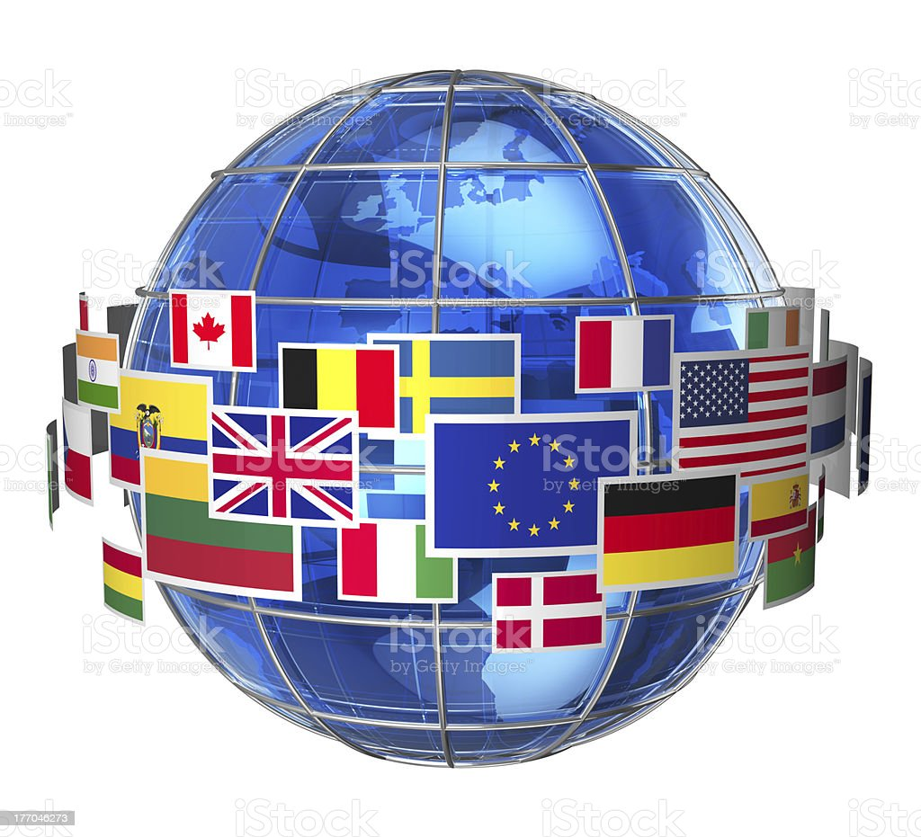 International communication concept stock photo