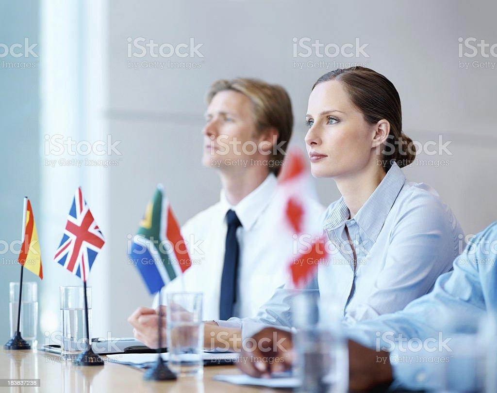 International conference stock photo