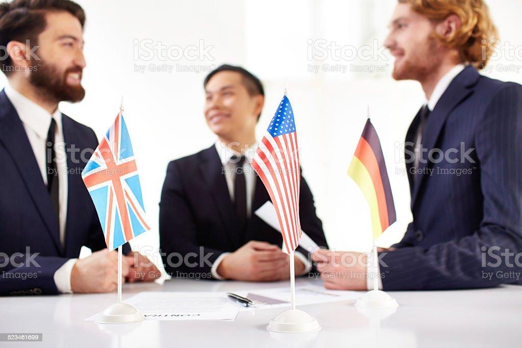 International cooperation stock photo