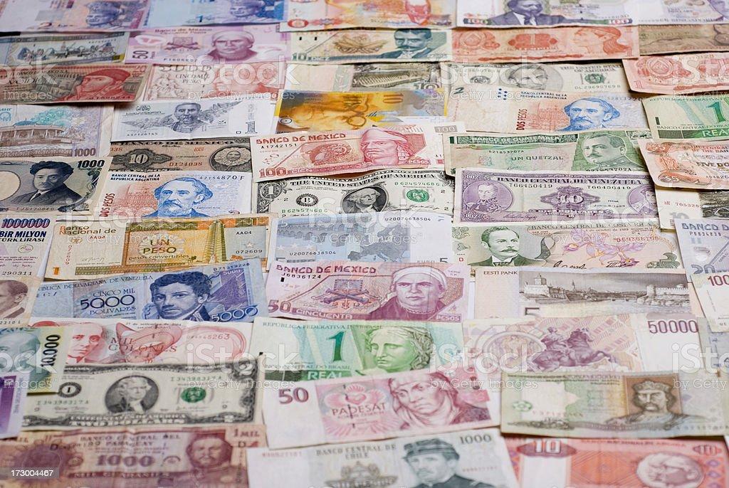 International currencies royalty-free stock photo