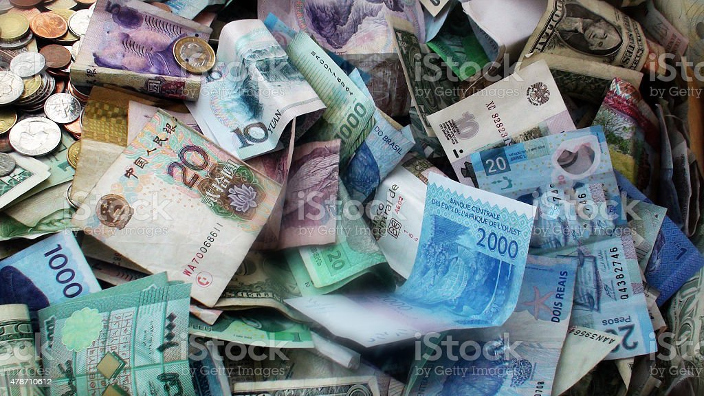International Currency stock photo