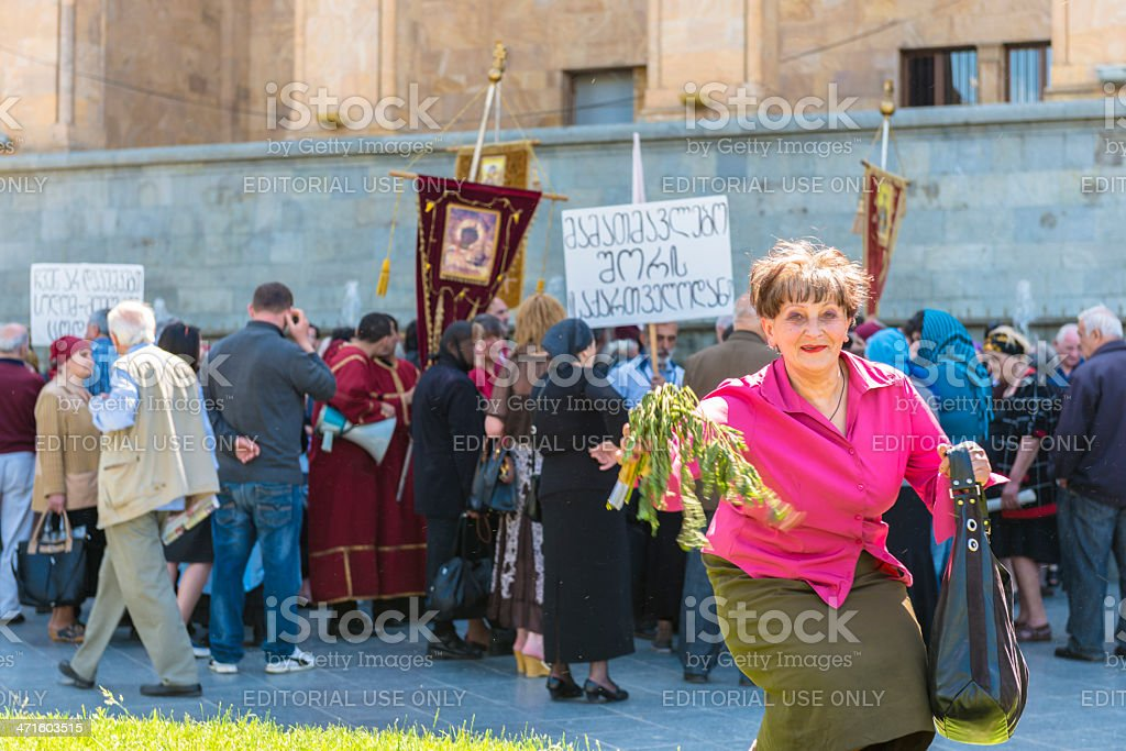 International Day Against Homophobia in Tbilisi stock photo