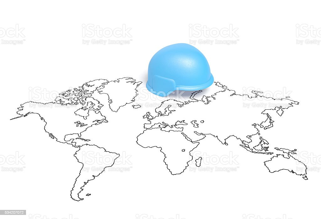 International Day of United Nations Peacekeepers or United Nations Day stock photo