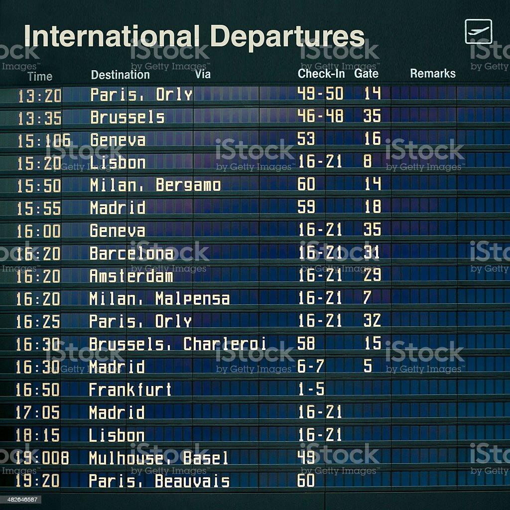 International Departures stock photo