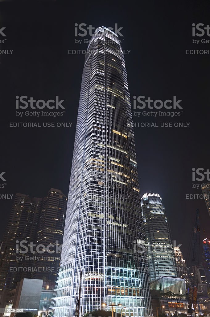 International Finance Centre, Central District, Hong Kong royalty-free stock photo