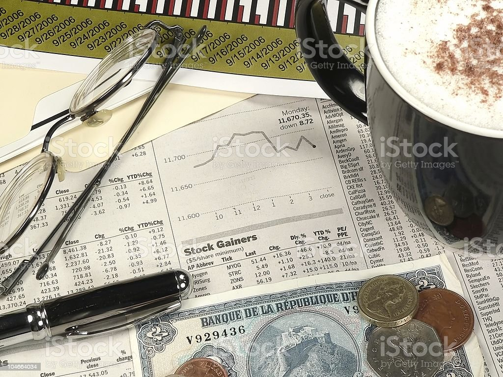 International Finance royalty-free stock photo