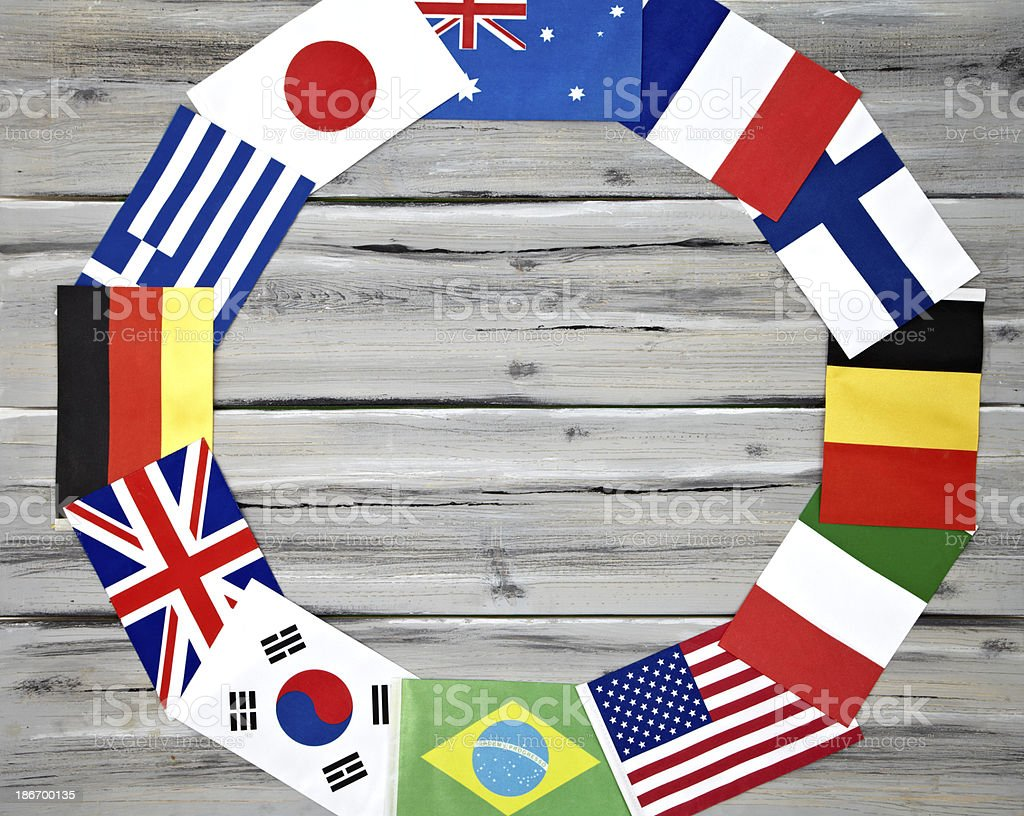 International Flag Circle royalty-free stock photo