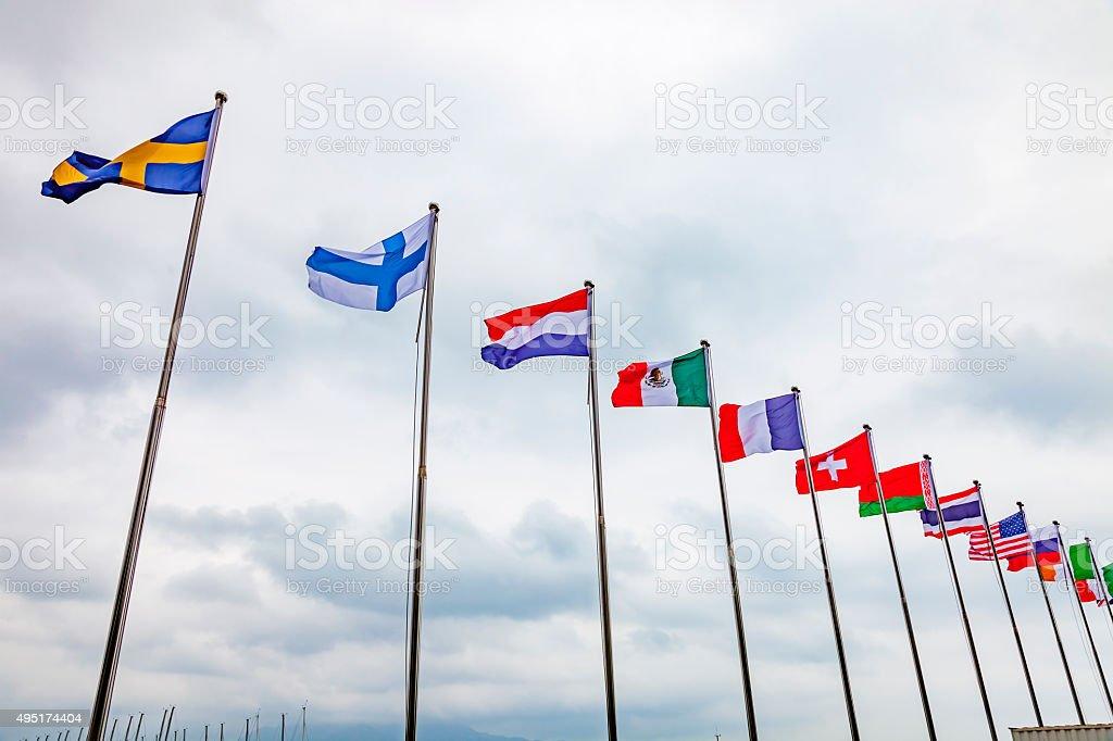 international flag stock photo