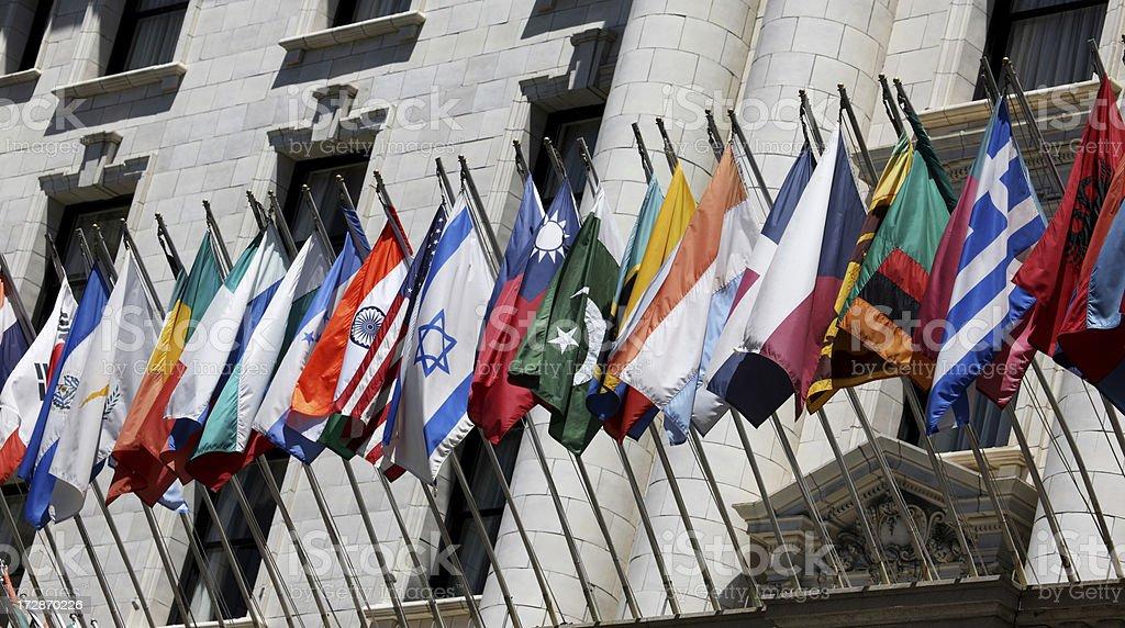 International Flags II stock photo
