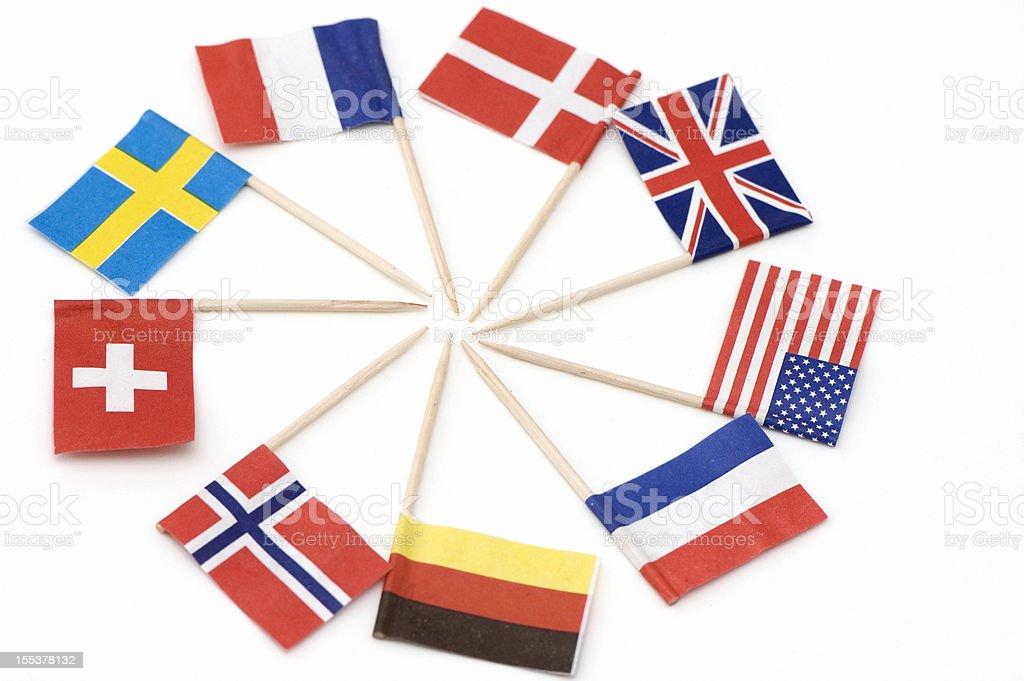 International  Flags. royalty-free stock photo