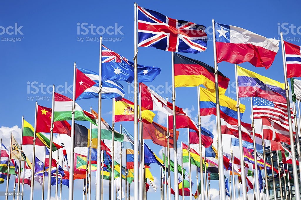 International flags stock photo