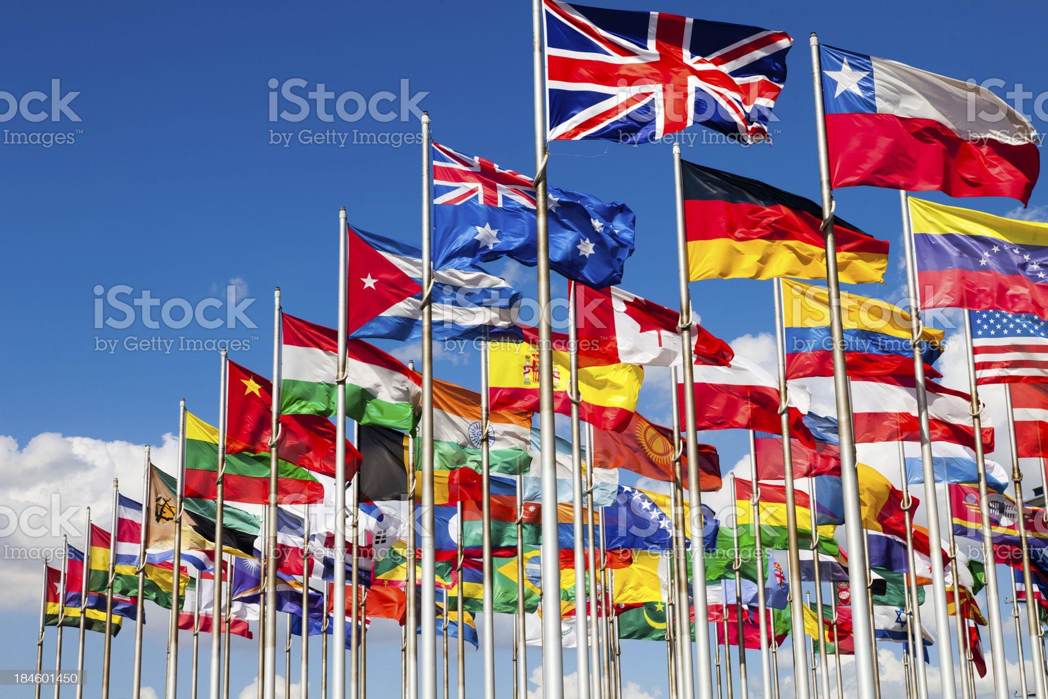 International flags royalty-free stock photo