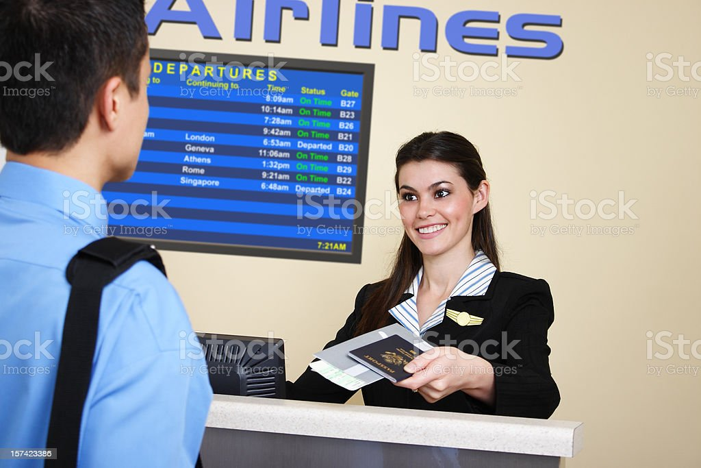 International Flight Check-In royalty-free stock photo