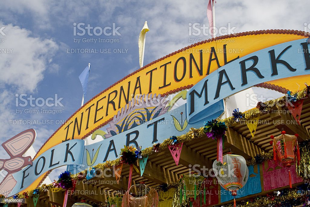 International Folk Art Market, Santa Fe, New Mexico stock photo