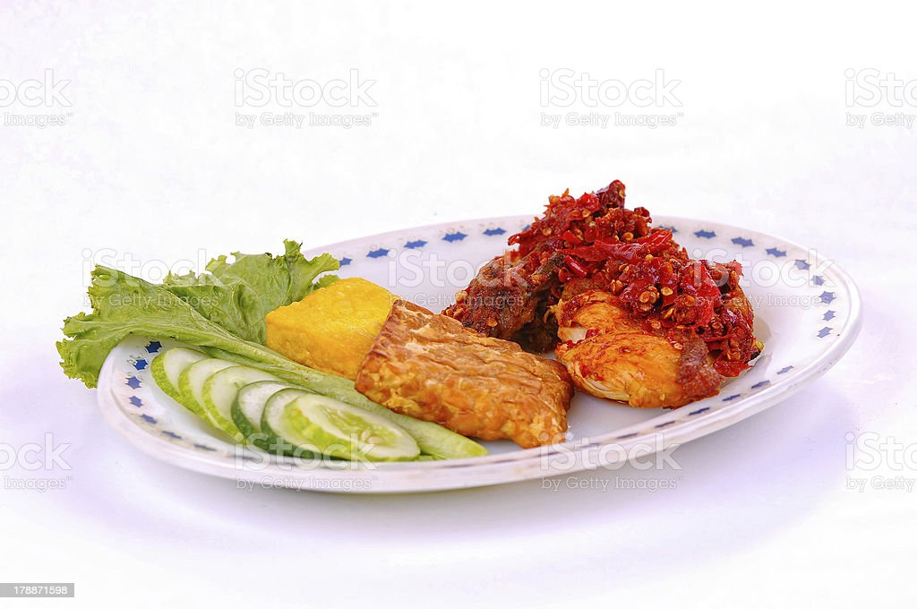 International food, local dish - Indonesian peynet chicken royalty-free stock photo