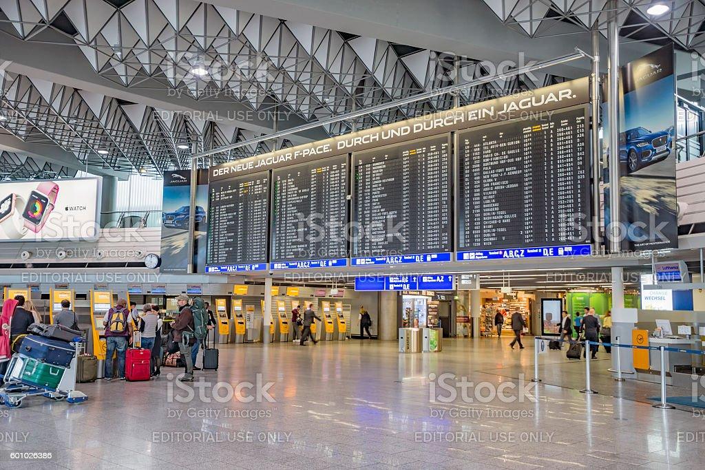 International Frankfurt Airport stock photo