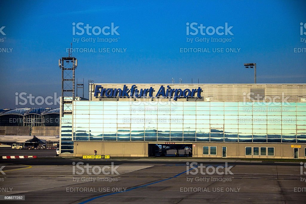 International Frankfurt Airport, the busiest airport in Germany stock photo