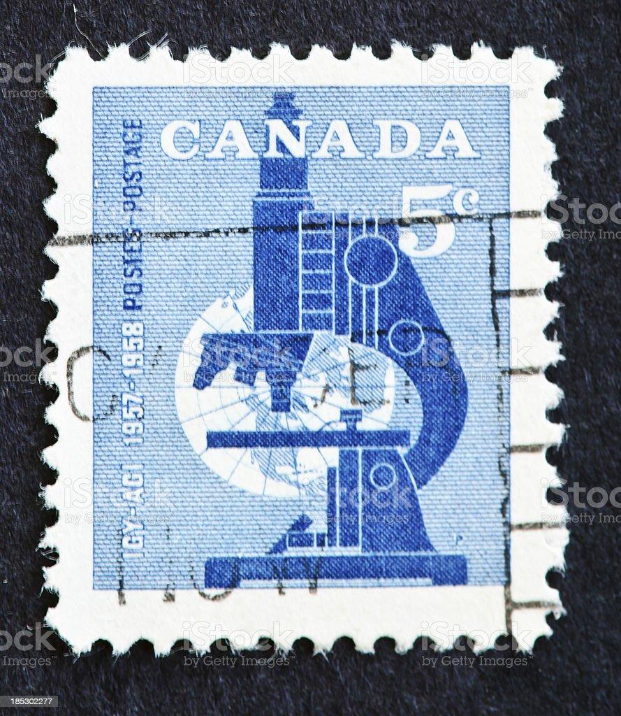 International Geophysical Year Stamp stock photo