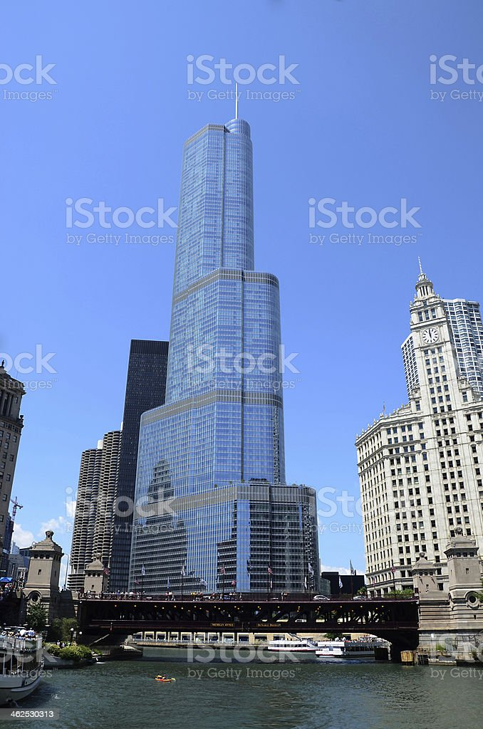 International Hotel and Tower in Chicago stock photo