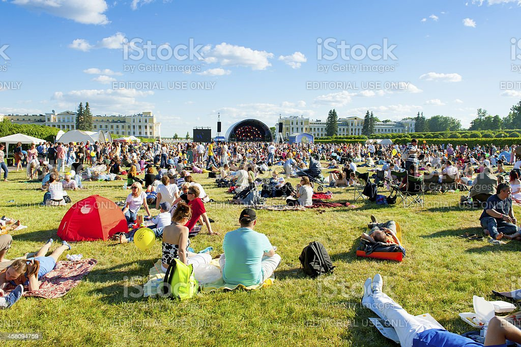 "VIII International Jazz Festival ""Usadba Jazz"" royalty-free stock photo"