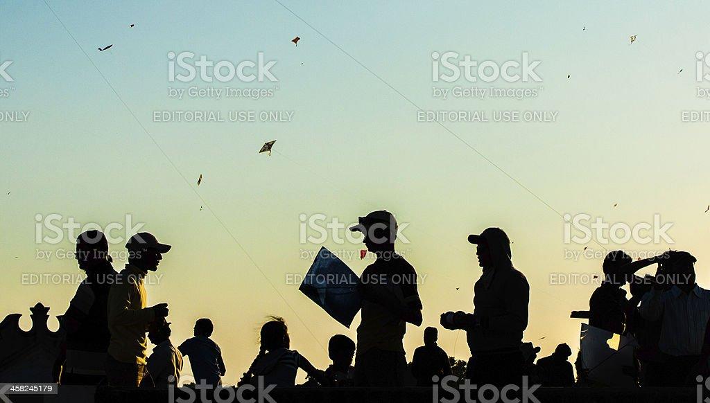 International Kite Festival (Uttarayan) - Gujarat royalty-free stock photo