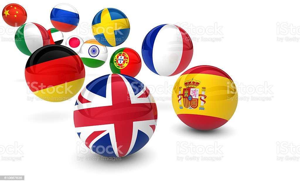 International Language School Business stock photo