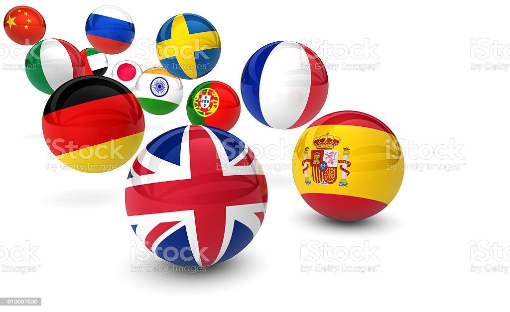 International Language School Business stock photo