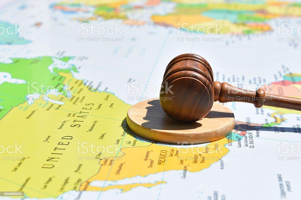 International Law Concept stock photo