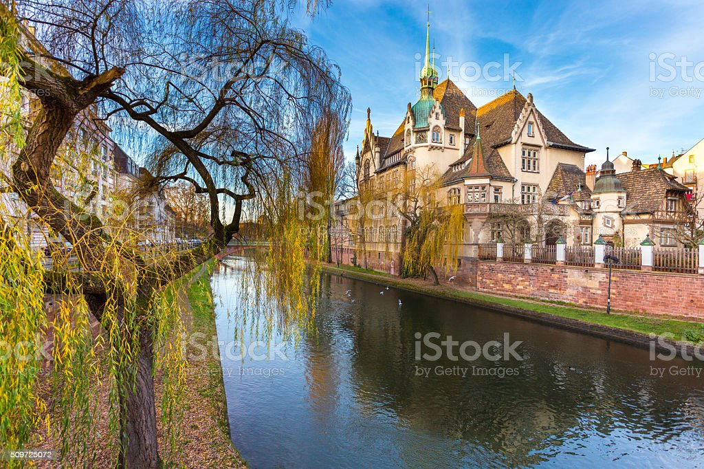 International Lyceum of Pontonniers In Strasbourg,Alsace france stock photo