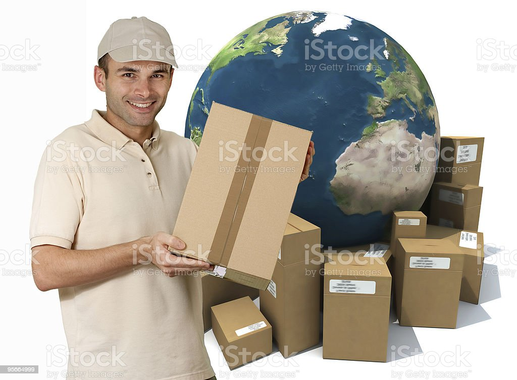 International messenger royalty-free stock photo