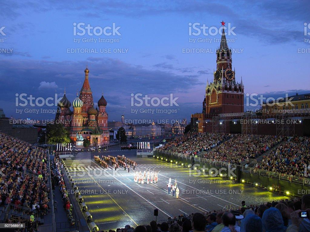 International Military Music Festival 'Spassky Tower' stock photo