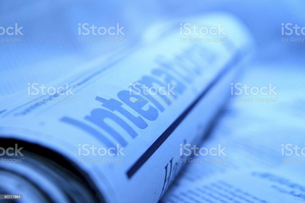 International news stock photo