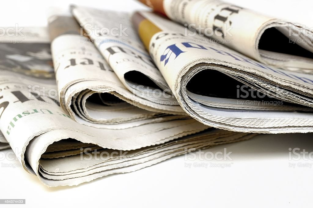 International Newspapers royalty-free stock photo