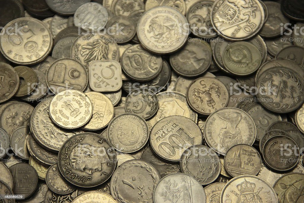 international nickel coins stock photo