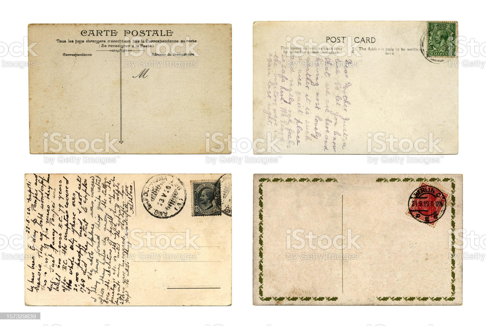 International postcards royalty-free stock photo