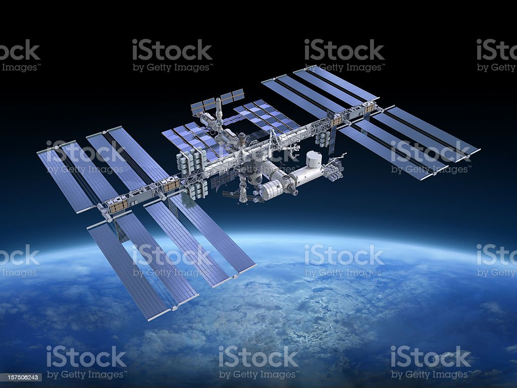 International Space Station ISS royalty-free stock photo