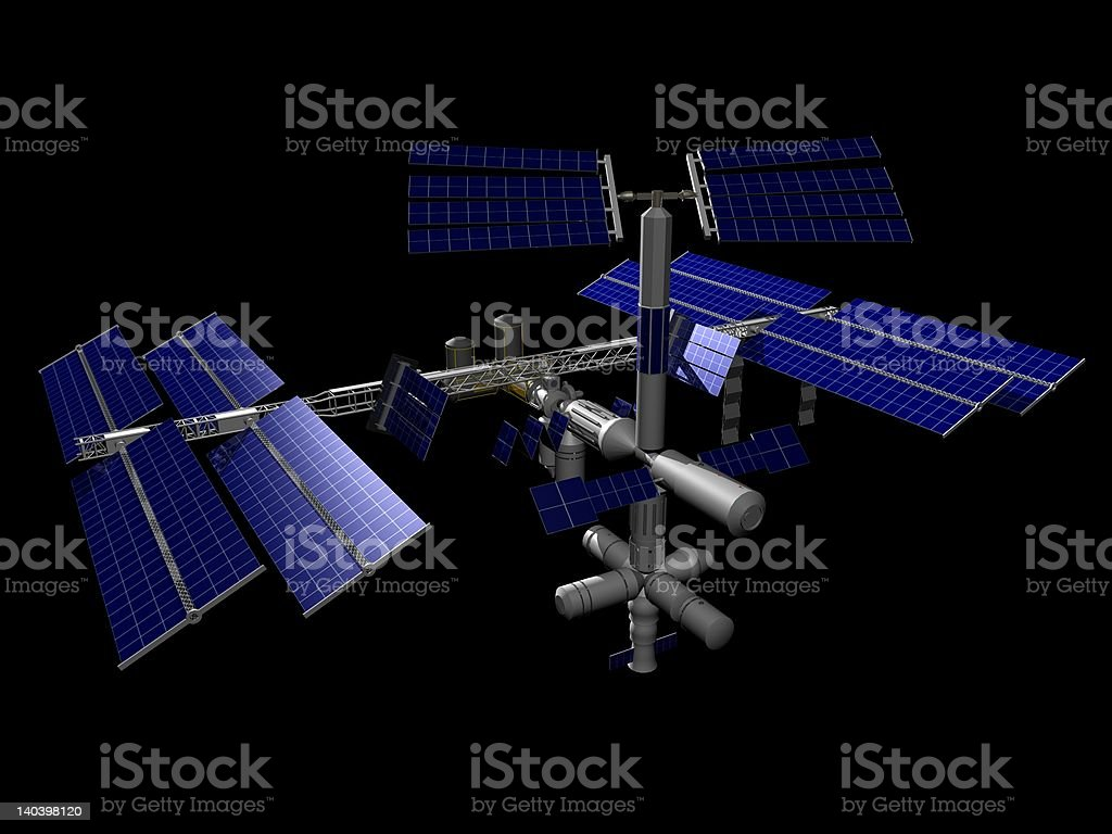 International Space Station (ISS) royalty-free stock photo