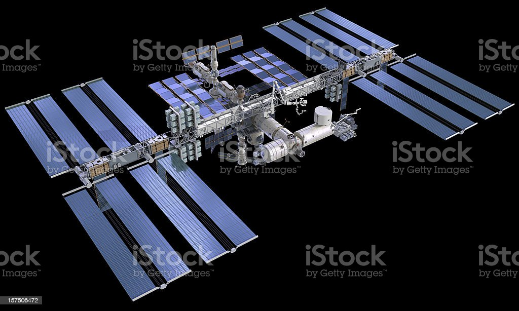 ISS International Space Station stock photo