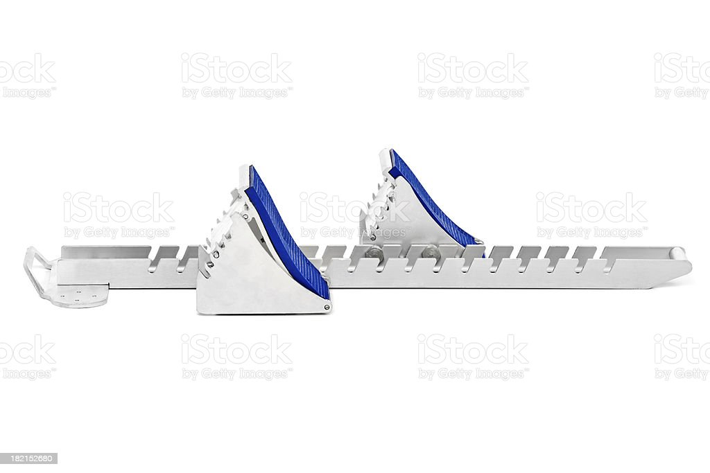 international starting block stock photo