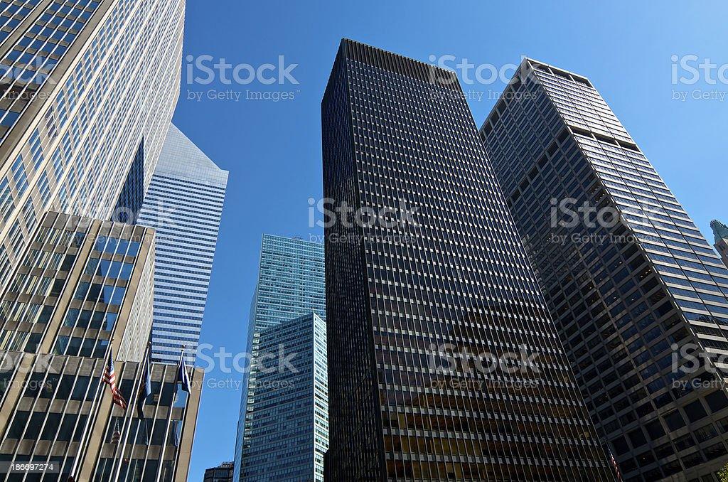 International Style Modern Architectural Cityscape, Midtown Manhattan, New York City royalty-free stock photo