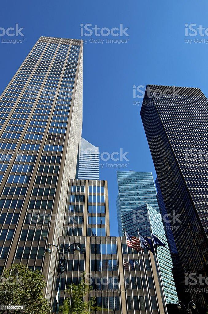 International Style Modern Architectural Cityscape, Midtown Manhattan, New York City stock photo