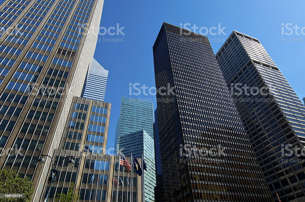 Modern Architecture New York City international style modern architectural cityscape midtown