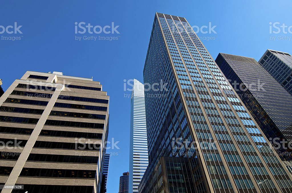 International Style & Post-Modern Architecture, Midtown Manhattan, New York City royalty-free stock photo