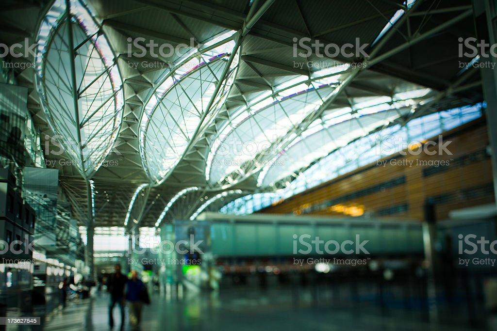 SFO International Terminal Abstract stock photo