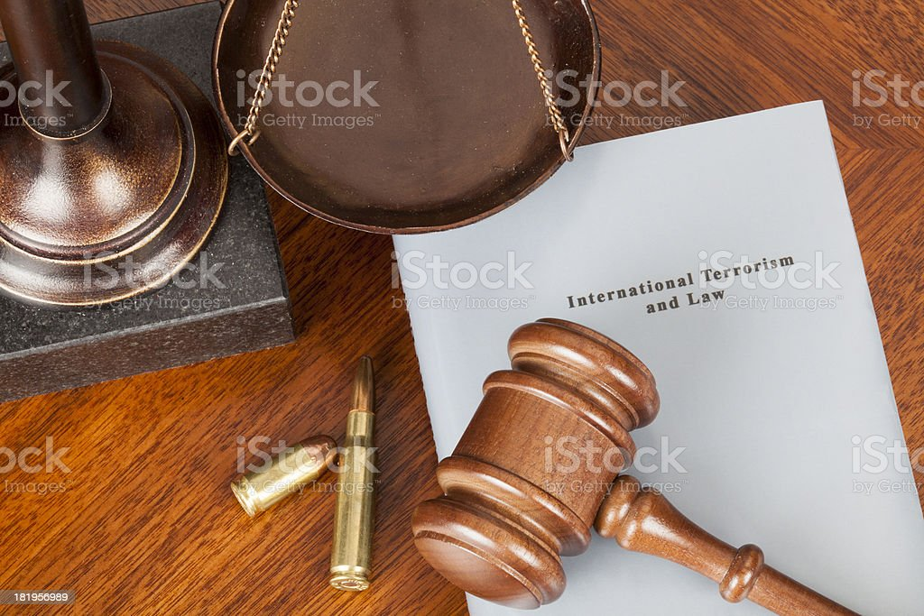 International terrorism royalty-free stock photo