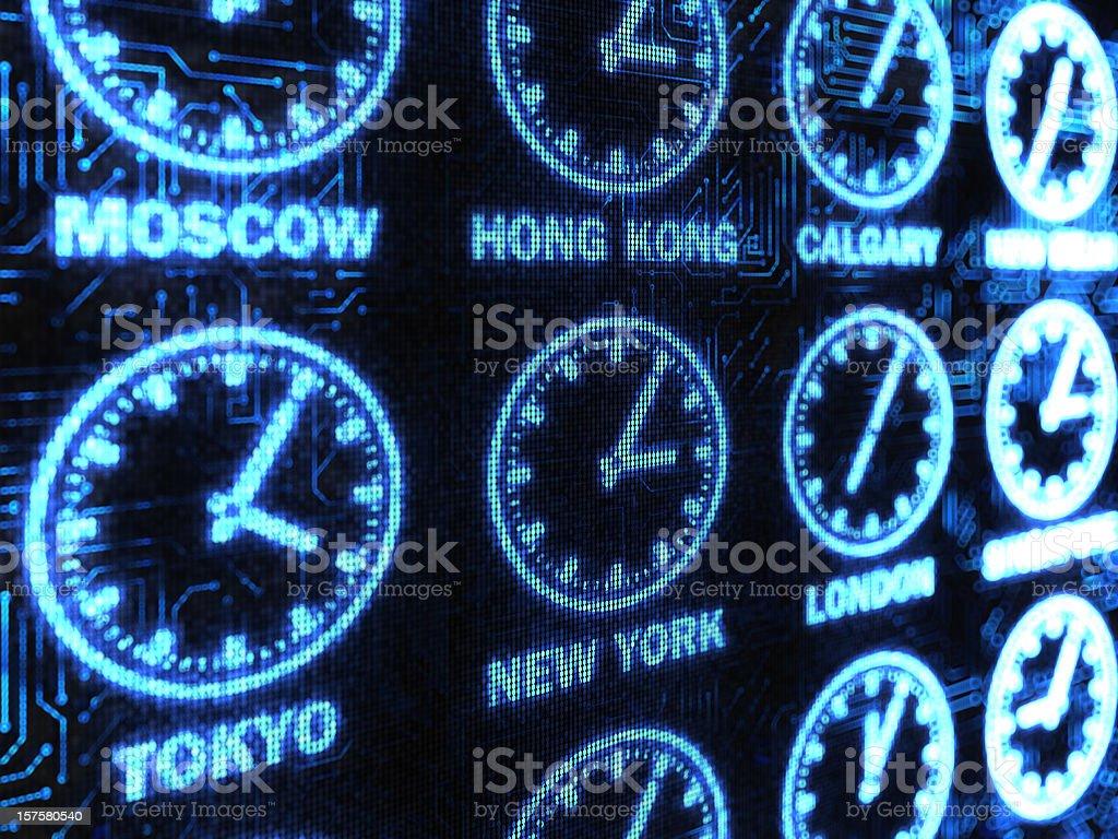 International Time background stock photo